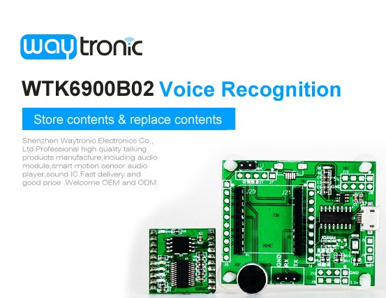 WTK6900B02 Voice Recognition Module , Voice Control Chip